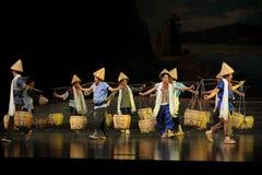 Porters cohort- Jiangxi opera a steelyard Royalty Free Stock Images