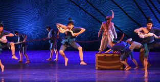 """The porters-Dance drama """"The Dream of Maritime Silk Road"""" Stock Images"""