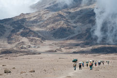 Porters on Kilimanjaro Royalty Free Stock Photography