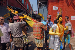 Porters of Kumartuli. Stock Photography