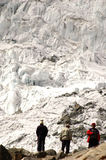 Porters on Morena Camp - Chopicalqui. Cordiliera Blanca - Peru Royalty Free Stock Images