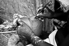Portery en Kumortuli (Kolkata) Foto de archivo libre de regalías