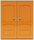 Portes à deux battants illustration de vecteur