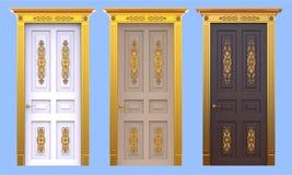 Portes antiques de palais réglées Image libre de droits