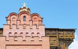Portes antiques de ville à Kiev Photo stock