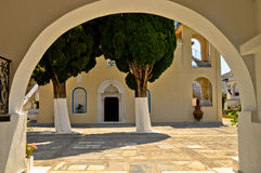 Portes au monastère de Zoodochos Pigi, Samos, Grèce Image stock