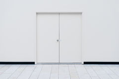 Portes blanches Images stock