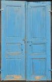 Portes bleues Photos stock