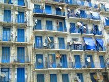 Portes bleues de balcon Images libres de droits