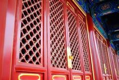 Portes chinoises rouges de Traditioal Photographie stock