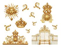Portes d'or Image stock