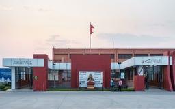 Portes d'arrivée à l'aéroport international de Katmandou, Népal Images libres de droits