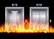 Portes d'ascenseur Photographie stock libre de droits