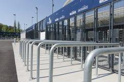 Portes d'entrée au stade national silésien Photos stock