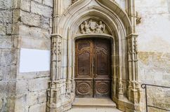 Portes d'entrée de Rocamadour à la chapelle Photographie stock libre de droits