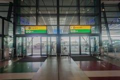 Portes d'entrée de sortie de terminal d'aéroport Photographie stock libre de droits