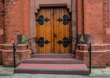 Portes d'entrée en bois Photo stock