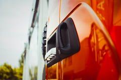Portes de camion à l'exposition images stock