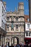 Portes de cathédrale de Cantorbéry à Cantorbéry Kent Images libres de droits