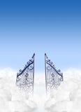 Portes de cieux dans les nuages Photo libre de droits