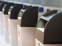 Portes de contrôle de passeport Image stock
