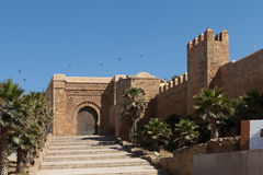 Portes de forteresse d'Udaya Kasbah. Rabat. Photo libre de droits