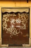 Portes de graffiti à Rome Photo stock