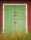 Portes de grange vertes Photo libre de droits