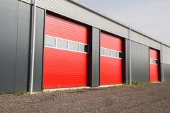 Portes de hangar Images libres de droits