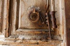 Portes de l'église de la tombe sainte à Jérusalem image libre de droits