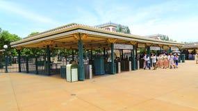 Portes de sortie de Hong Kong Disneyland Photo stock