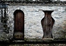 Portes en bois antiques chinoises Photographie stock libre de droits