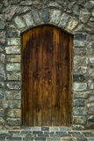Portes en bois de Brown Image stock