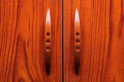 portes en bois de garde-robe Photos stock