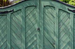 Portes en bois vertes Images libres de droits