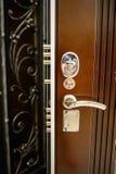 Portes en métal d'entrée Images libres de droits