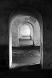 Portes en noir et blanc Photo libre de droits