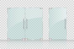 Portes en verre de magasin, de mail pour le marché et boutique illustration stock