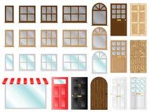 Portes et fenêtres Photos stock