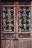 Portes et fenêtres de sculpture sur bois Photo libre de droits