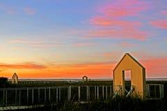 Portes et promenade chez Alviso Marina County Park Photos stock