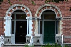 Portes géorgiennes typiques à Dublin Photos libres de droits