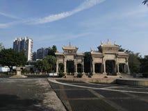 Portes jumelles du théatre de l'opéra du ` s de Chen Image stock