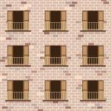 Portes ouvertes avec le style de vintage de balcon Images stock