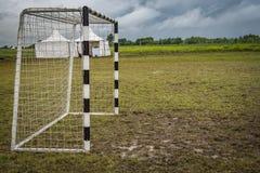 Portes pour le mini football photo stock