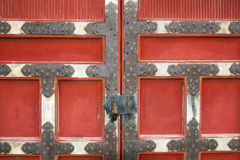 Portes rouges Images stock