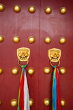 Portes rouges antiques Photo libre de droits