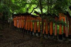Portes rouges célèbres du tombeau de Fushimi Inari Photo stock