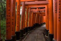 Portes rouges célèbres du tombeau de Fushimi Inari Photographie stock libre de droits