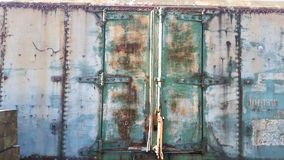 Portes rouillées de chariot de train Image libre de droits